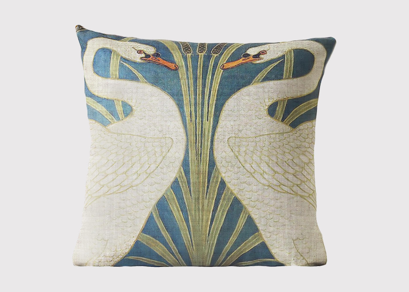 Spring Swan Cushion