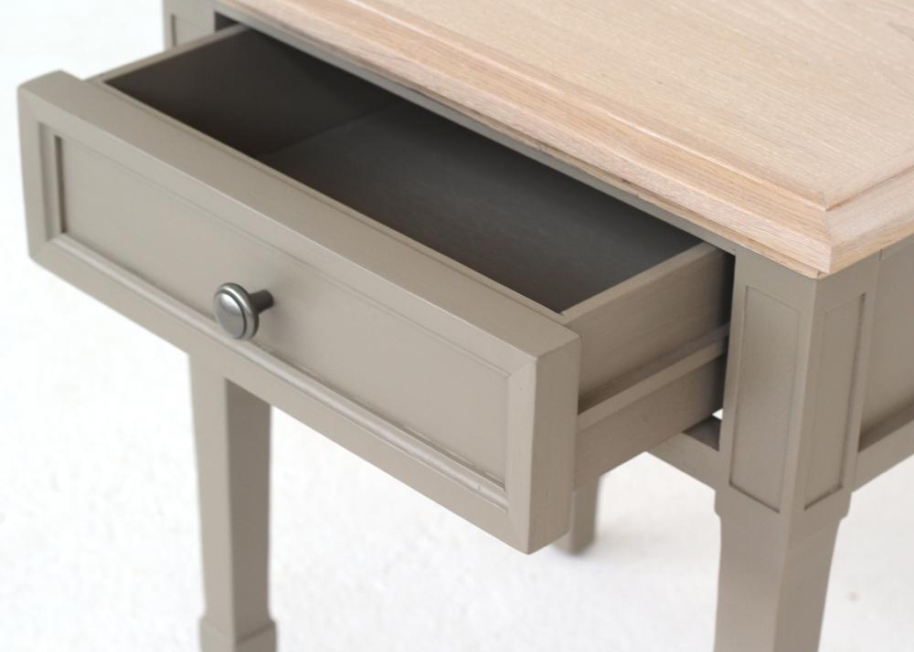 elegant lamp table drawer detail