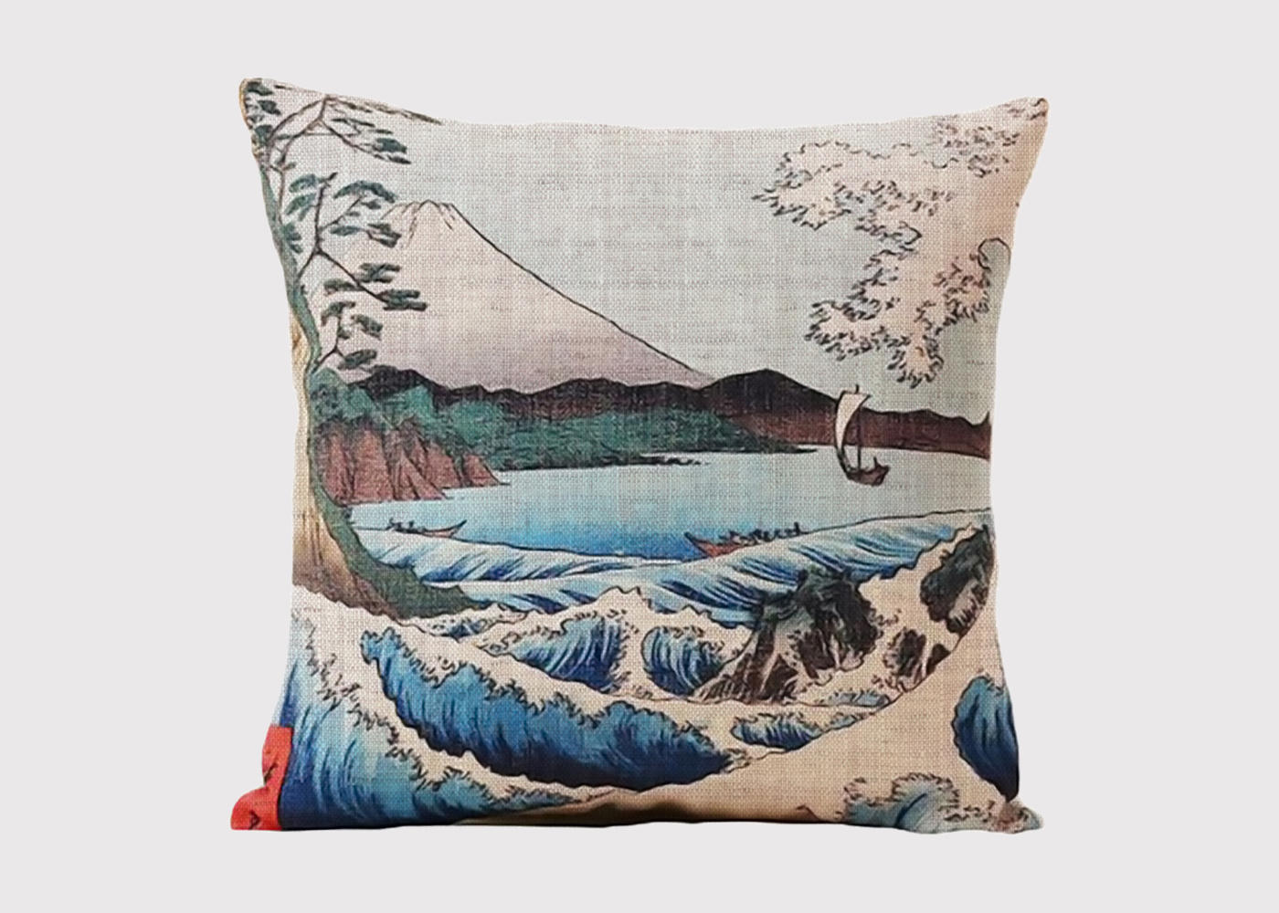 Japanese Seascape Cushion