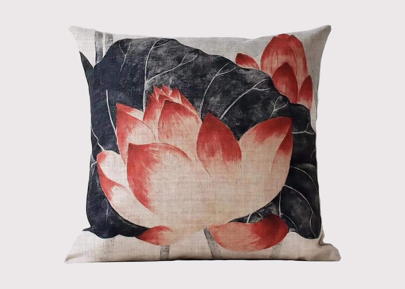 Chinese Lotus Flower Cushion Jasper Tallow Furniture