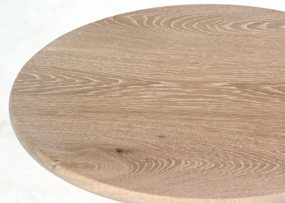 statesman wine table oak top close up