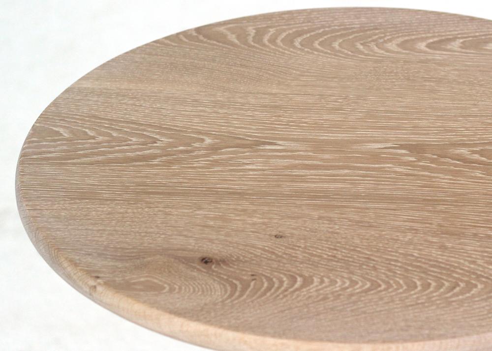 statesman wine table oak top close up