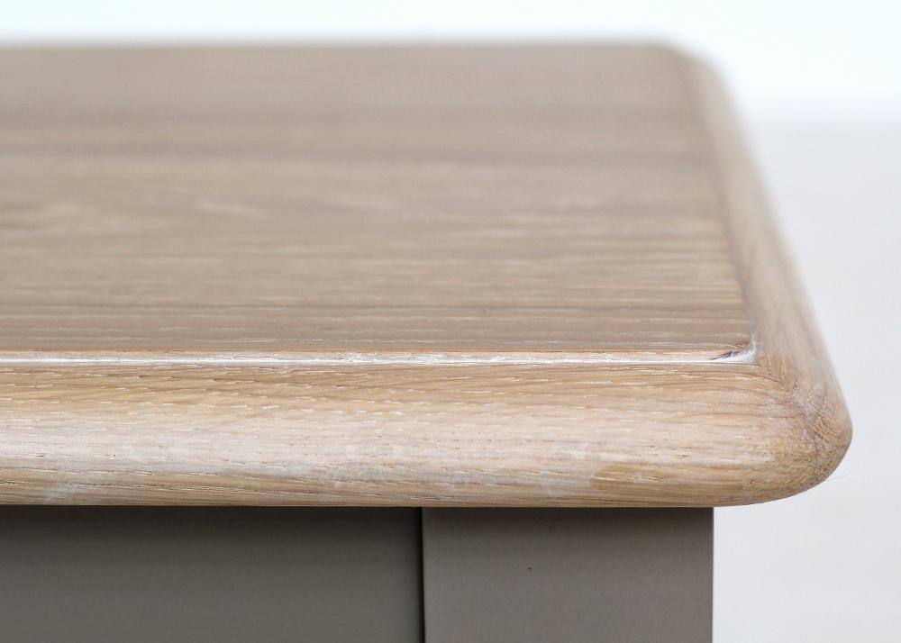 versailles lamp table oak top design detail